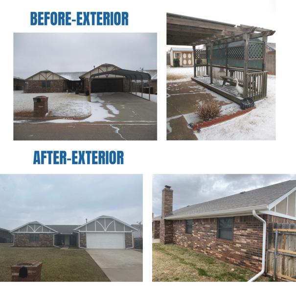 Photo collage of exterior photos