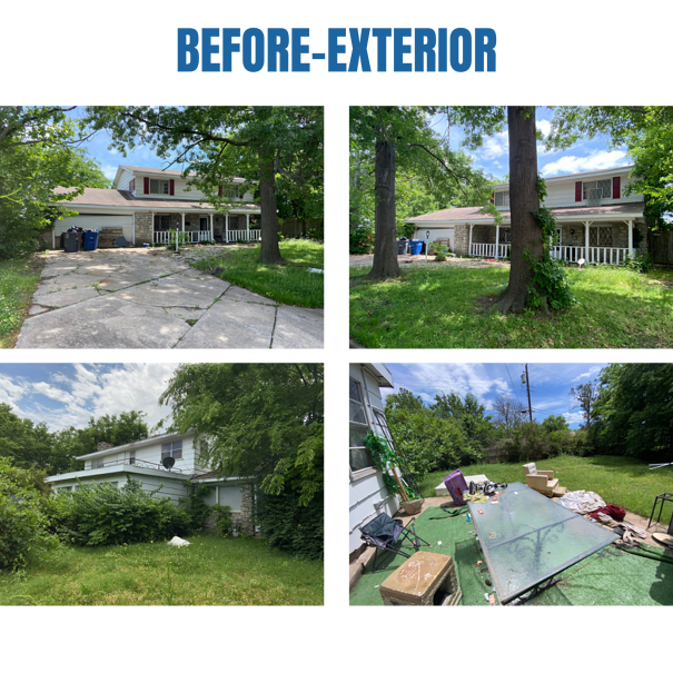 """Photo collage of """"before"""" exterior photos"""