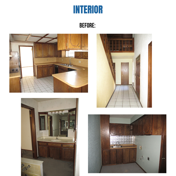 Photo collage of pictures from interior of home