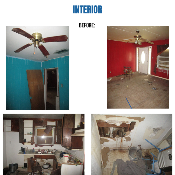 Photo collage of the interior of a home