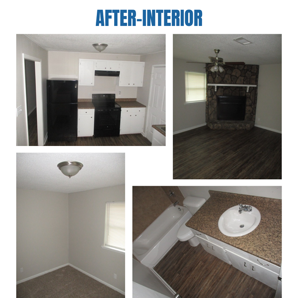 """Photo collage of """"after"""" interior photos"""