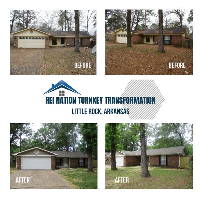 Photo collage from REI Nation's Turnkey Transformation in Little Rock, Arkansas