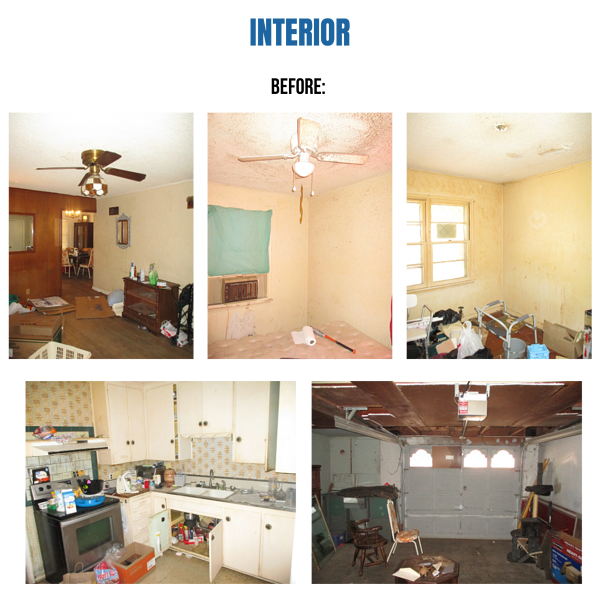 "Photo collage of ""before"" images"