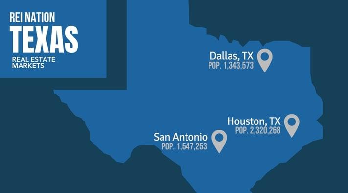 San Antonio TX REI markets Dallas Houston San Antonio