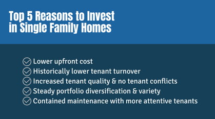 Top 5 Reasons to Invest in Single Family Homes