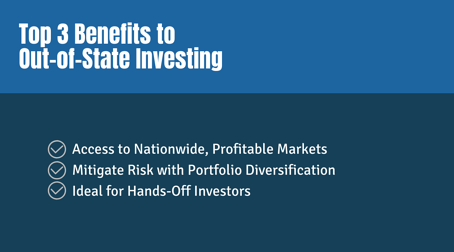 Top 3 Benefits to Out-Of-State Investing