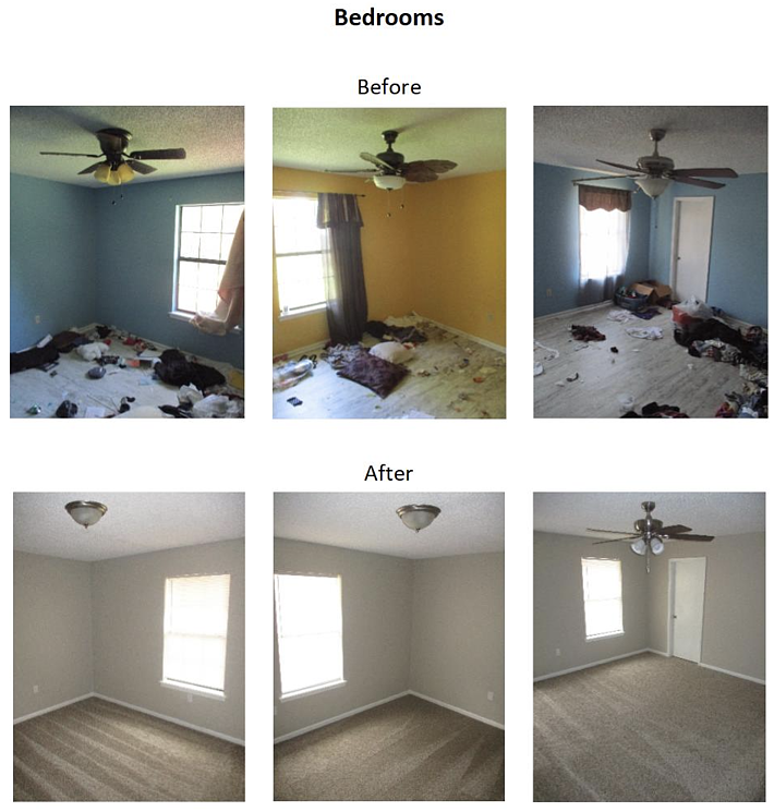 before and after photos of bedroom