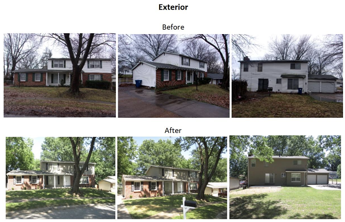 exterior before and after pictures