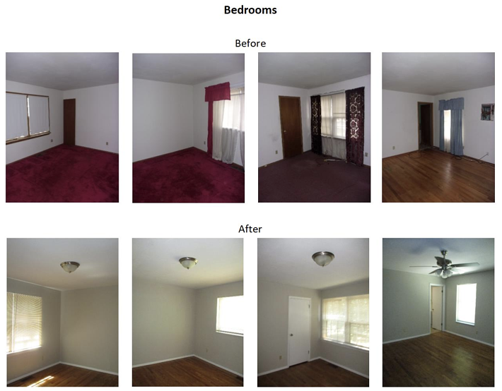 bedroom before and after pictures