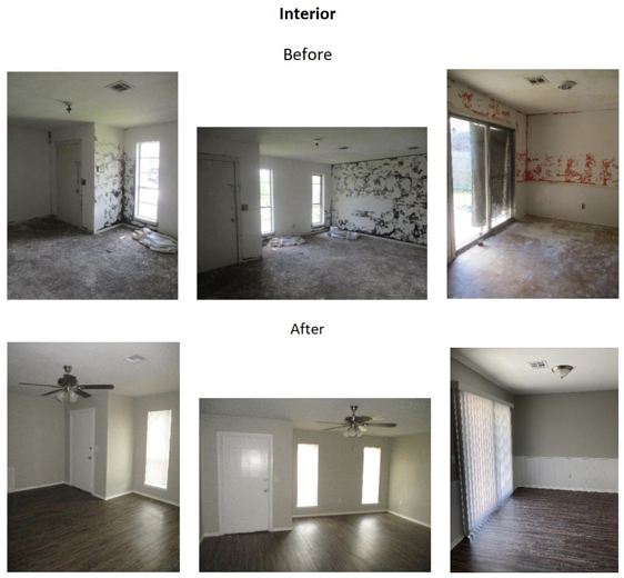 before and after interior photos