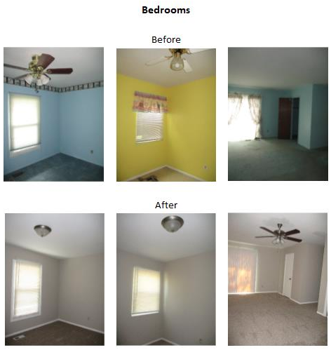 bedroom before and after photos