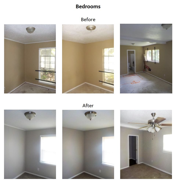 before and after bedroom photos