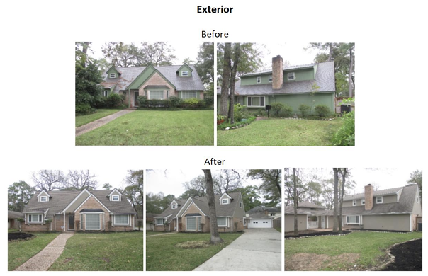 exterior before and after photos