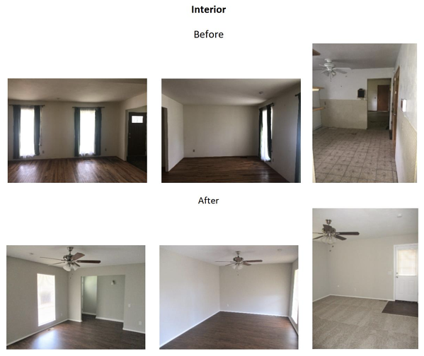 interior before and after photos
