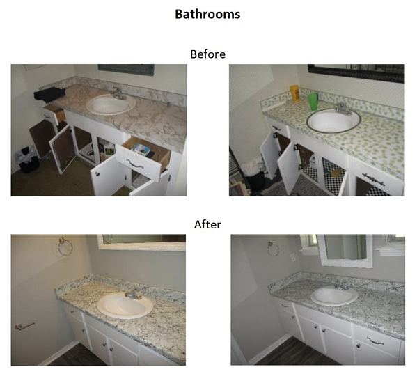 athroom before and after photos