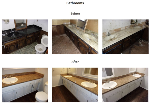bathroom before and after photos