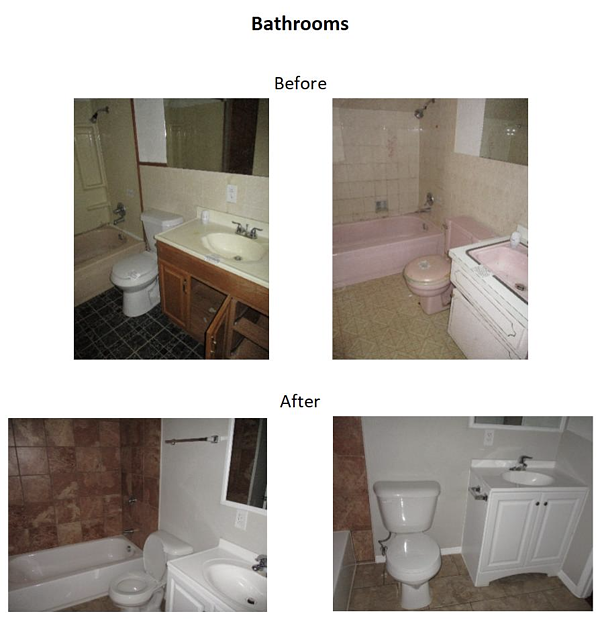 before and after bathrooms