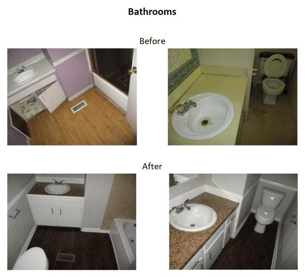 beforeandafter bathroom