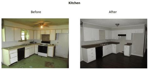 beforeandafter kitchen
