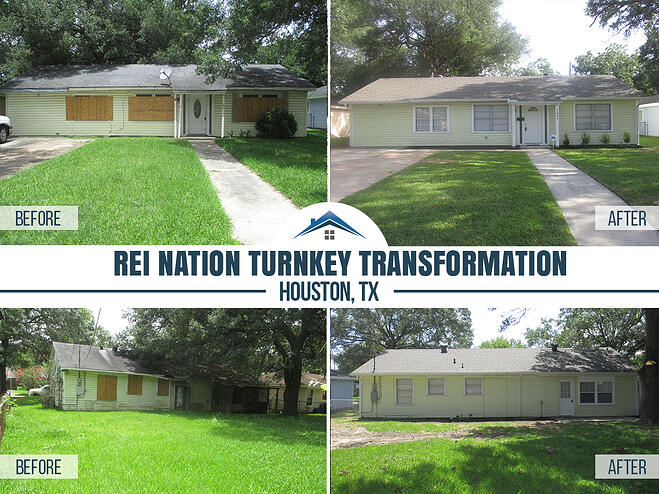 before and after photos of turnkey property