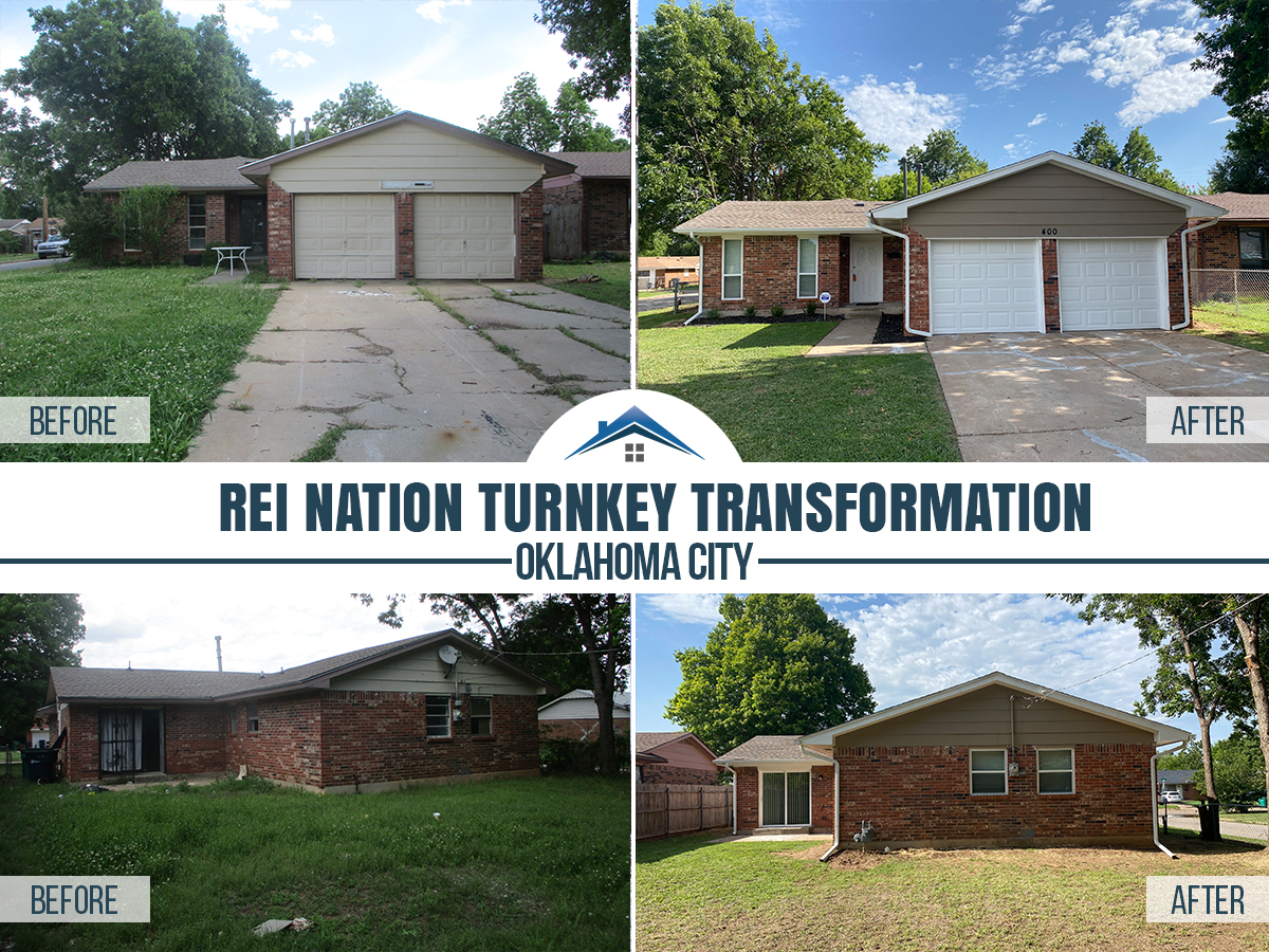 before and after photos oklahoma city single family home