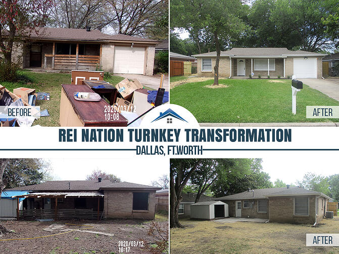 before and after turnkey transformation photos