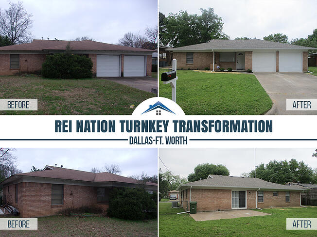before and after dallas-ft.worth turnkey property
